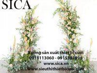 Cột hoa trang trí nhà hàng tiệc cưới giá rẻ