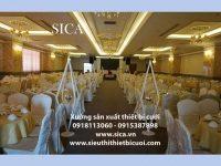 Chân hoa lối đi trang trí tiệc cưới sân khấu giá rẻ