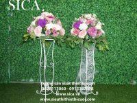 Chân hoa trang trí lối đi đẹp