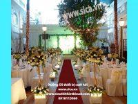 Nơi cung cấp các mẫu trang trí nhà hàng tiệc cưới đẹp