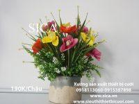 Sản xuất chậu hoa trang trí giá rẻ đẹp