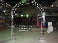 Khung cổng đầu tròn giá rẻ
