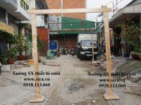 Mẫu khung cổng cưới chất liệu gỗ thiên nhiên