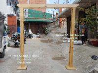 Khung sường cổng gỗ giá rẻ đẹp