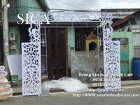 Bộ khung cổng cưới hoa văn CNC giá rẻ