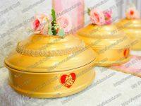 Mâm quả màu vàng cho lễ cưới