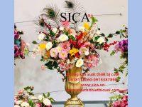 Bình cấm hoa mang phong cánh cổ điển đẹp