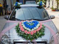 Các mẫu hoa trang trí xe cô dâu mới nhất đẹp nhất