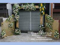 Cổng cưới khung gỗ hàng rào CNC mẫu mới giá rẻ