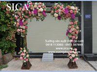 Cổng hoa cưới chất liệu cây gỗ giá rẻ