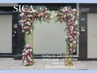 Cổng cưới kết hoa khung hợp mẫu mới